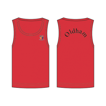 ACS Red Oldham House Singlet