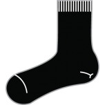 Black Plain Ankle Socks