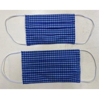 Face mask cover for adults (Checkered Blue)